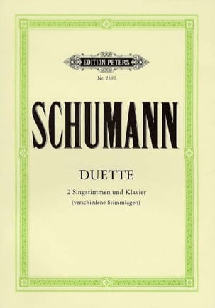 SCHUMANN - Duette - Sheet Music - di-arezzo.co.uk