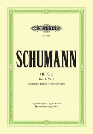 SCHUMANN - Lieder Volume 1. High voice - Sheet Music - di-arezzo.co.uk