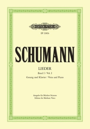 SCHUMANN - Lieder Volume 1. Average Voice - Sheet Music - di-arezzo.co.uk