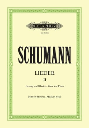 SCHUMANN - Lieder Volume 2. Average Voice - Sheet Music - di-arezzo.co.uk
