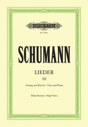 SCHUMANN - Lieder Volume 3. High Voice - Sheet Music - di-arezzo.com
