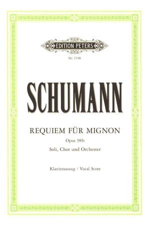 Robert Schumann - Requiem Für Mignon Opus 98b - Partition - di-arezzo.fr