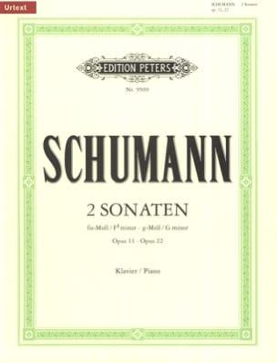 SCHUMANN - 2 Sonates Opus 11 et 22 - Partition - di-arezzo.fr