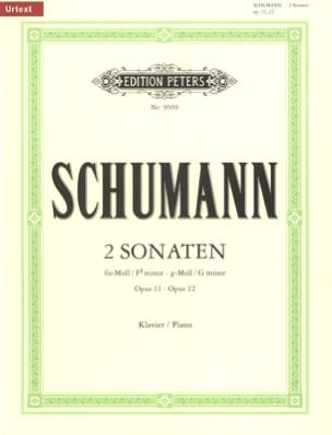 SCHUMANN - 2 Sonatas Opus 11 and 22 - Sheet Music - di-arezzo.com