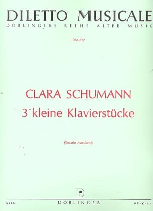 3 kleine Klavierstücke - Clara Schumann - Partition - laflutedepan.com