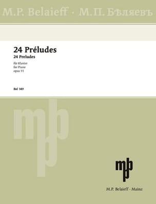 Alexander Scriabine - 24 Préludes Opus 11 - Partition - di-arezzo.fr