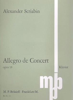Alexander Scriabine - Allegro de Concert Op. 18 - Partition - di-arezzo.fr