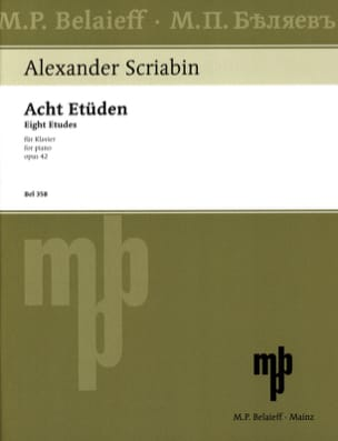 Alexander Scriabine - 8 Opus Studies 42 - Sheet Music - di-arezzo.co.uk