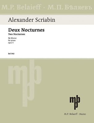2 Nocturnes Opus 5 - Alexander Scriabine - laflutedepan.com