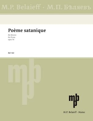 Poème Satanique Op. 36 - Alexander Scriabine - laflutedepan.com
