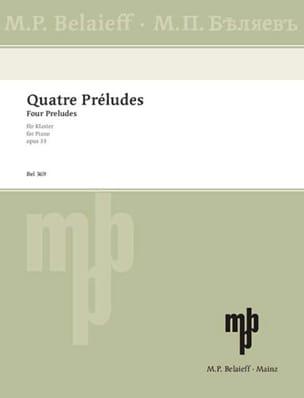 4 Préludes Op. 33 - Alexander Scriabine - Partition - laflutedepan.com
