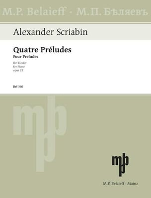 4 Préludes Opus 22 - Alexander Scriabine - laflutedepan.com