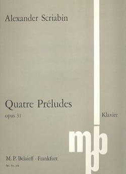 Alexander Scriabine - 4 Preludes Op. 31 - Sheet Music - di-arezzo.com