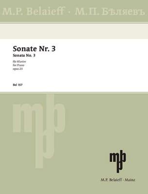 Alexander Scriabine - Sonate Pour Piano n° 3 Opus 23 - Partition - di-arezzo.fr