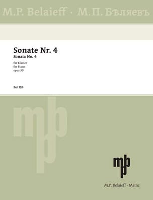 Sonate Pour Piano n° 4 Opus 30 SCRIABINE Partition laflutedepan
