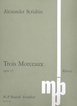 3 Morceaux Opus 45 - Alexander Scriabine - laflutedepan.com