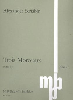 3 Morceaux Opus 45 - SCRIABINE - Partition - Piano - laflutedepan.com