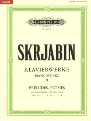 Klavierwerke Volume 2 SCRIABINE Partition Piano - laflutedepan