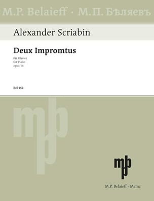 Alexander Scriabine - 2 Impromptus Op. 14 - Partition - di-arezzo.fr