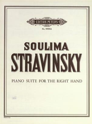 Suite Pour la Main Droite - Soulima Stravinski - laflutedepan.com