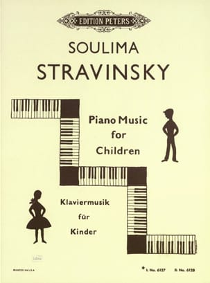 Piano Music For Children Vol 1 - soulima Stravinski - laflutedepan.com