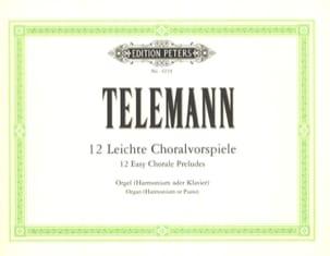 12 Leichte Choralvorspiel - TELEMANN - Partition - laflutedepan.com