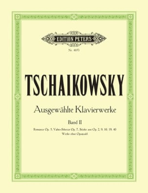 Oeuvres Pour Piano Volume 2 - TCHAIKOWSKY - laflutedepan.com