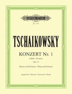TCHAIKOWSKY - Piano Concerto No. 1 In B Flat Minor Opus 23 - Sheet Music - di-arezzo.com