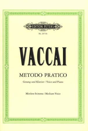Nicola Vaccai - Metodo Pratico Average Voice - Sheet Music - di-arezzo.co.uk
