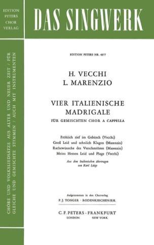 Madrigaux Italiens 4 - Vecchi / Marenzio - laflutedepan.com