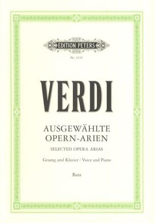 Opern Arien. Basse VERDI Partition Recueils - laflutedepan