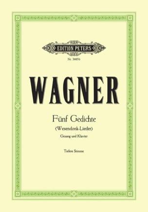 Richard Wagner - Wesendonck-Lieder. Voix Grave - Partition - di-arezzo.fr