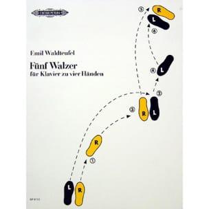 5 Valses. 4 Mains - Emile Waldteufel - Partition - laflutedepan.com