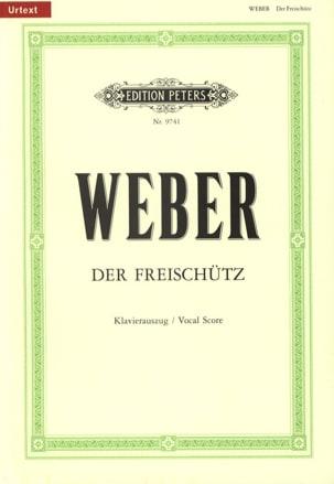 Carl Maria von Weber - Der Freischütz - Partition - di-arezzo.fr
