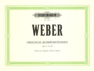 Carl Maria von Weber - Compositions Originales. 4 Mains - Partition - di-arezzo.fr