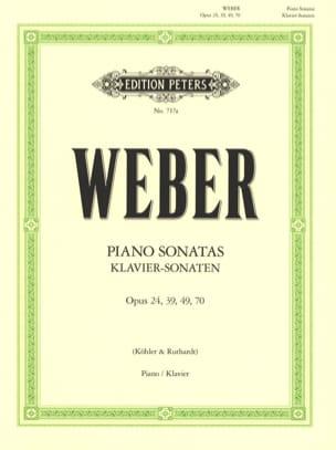 Carl Maria von Weber - Sonates pour piano - Partition - di-arezzo.fr