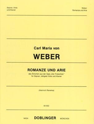 Carl Maria von Weber - Romanze Und Arie. Der Freischutz - Partition - di-arezzo.fr