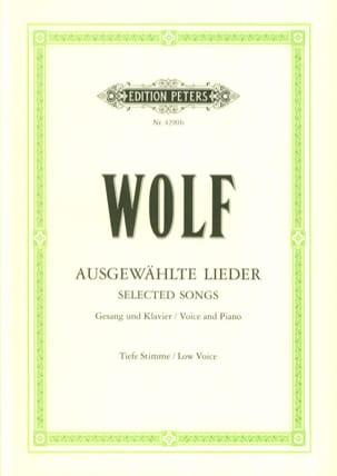 Ausgewählte Lieder. Voix Grave Hugo Wolf Partition laflutedepan