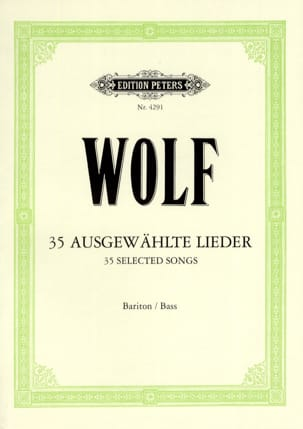 35 Ausgewählte Lieder - Hugo Wolf - Partition - laflutedepan.com