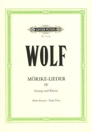 Mörike-Lieder 4. Voix Haute - Hugo Wolf - Partition - laflutedepan.com