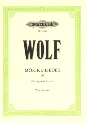 Hugo Wolf - Mörike-Lieder Volume 4. Serious Voice - Sheet Music - di-arezzo.co.uk