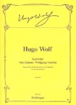 Hugo Wolf - Gedichte Von Goethe. Volume 3. Voix Grave - Partition - di-arezzo.fr
