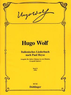 Italienisches Liederbuch Volume 2 Voix Grave Hugo Wolf laflutedepan