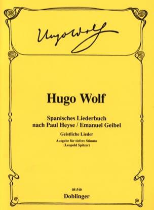 Spanisches Liederbuch (Voix Grave) - Hugo Wolf - laflutedepan.com