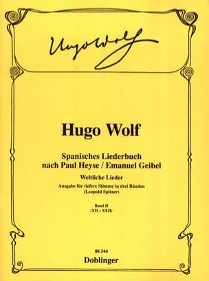 Hugo Wolf - Spanisches Liederbuch Vol 2 (Voix Grave) - Partition - di-arezzo.fr