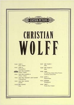 Duo for Pianists I - Christian Wolff - Partition - laflutedepan.com
