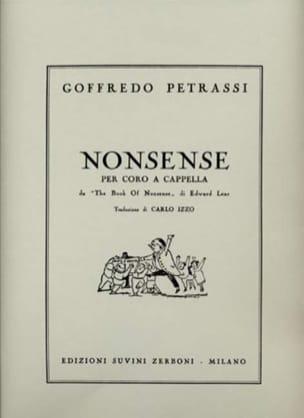 Goffredo Petrassi - 5 Nonsense - Partition - di-arezzo.fr