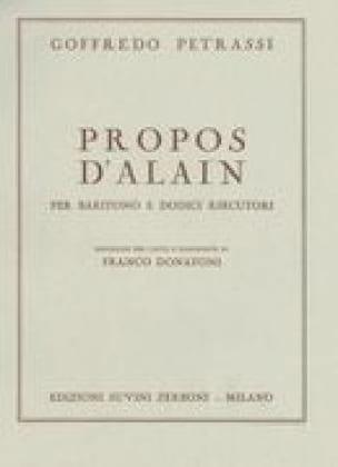 Propos d' Alain - G Petrassi - Partition - Mélodies - laflutedepan.com