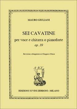 6 Cavatines Opus 39 Mauro Giuliani Partition Guitare - laflutedepan