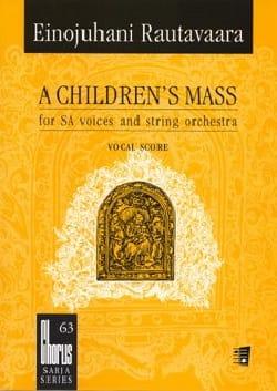 A Children's Mass Ou Lapsimessu Opus 71. Choeur seul - laflutedepan.com